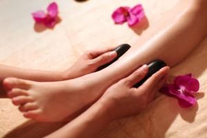 Hot Stone Foot and Leg Massage