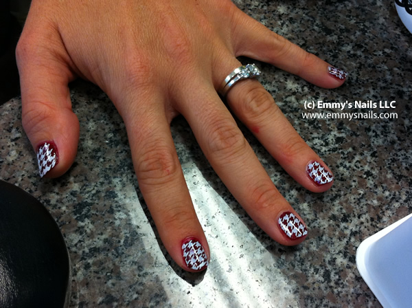 Alabama Hounds Tooth Nails