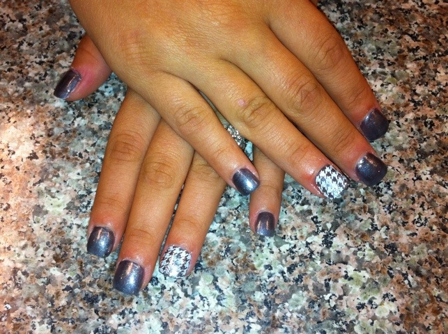 Houndstooth over Acrylic